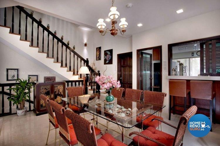 Contemporary, Country, Modern Design - Dining Room - Landed House - Design by Weiken.com Design Pte Ltd