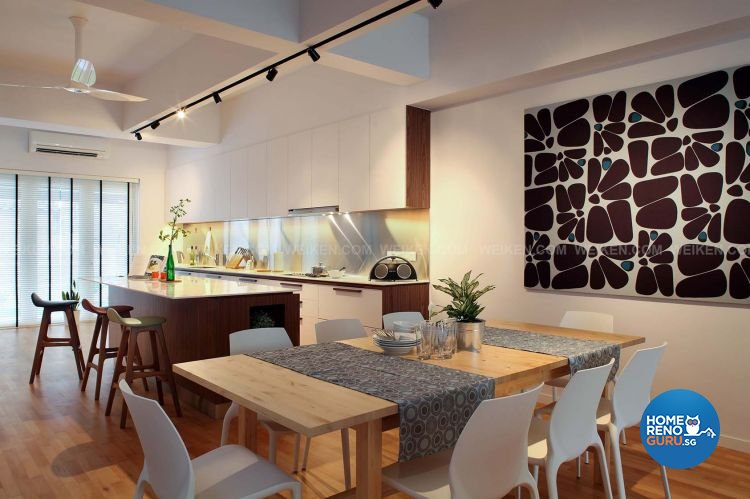 Contemporary, Minimalist, Modern Design - Dining Room - Landed House - Design by Weiken.com Design Pte Ltd