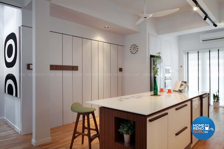 Contemporary, Minimalist, Modern Design - Kitchen - Landed House - Design by Weiken.com Design Pte Ltd