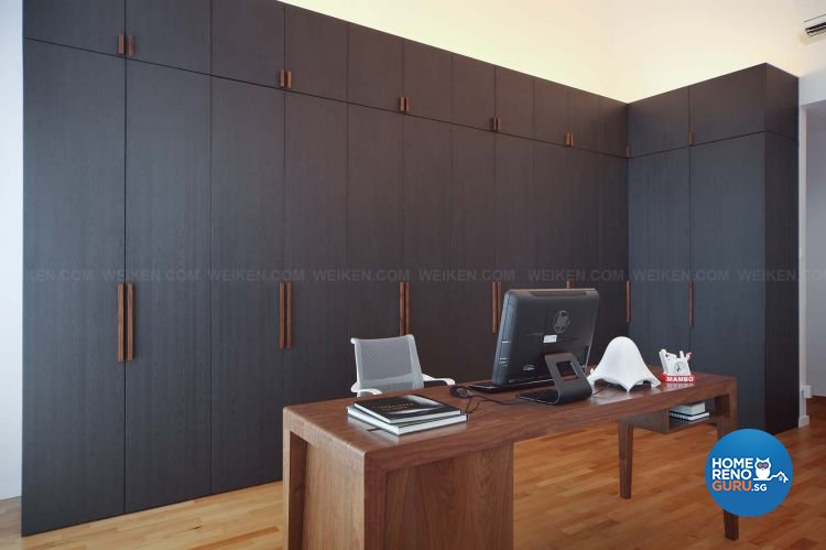 Contemporary, Minimalist, Modern Design - Study Room - Landed House - Design by Weiken.com Design Pte Ltd