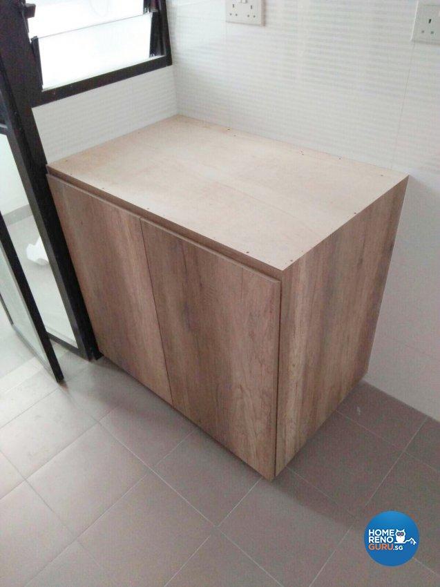 Industrial, Scandinavian Design - Kitchen - HDB 3 Room - Design by Weldas Wolfgang Pte Ltd