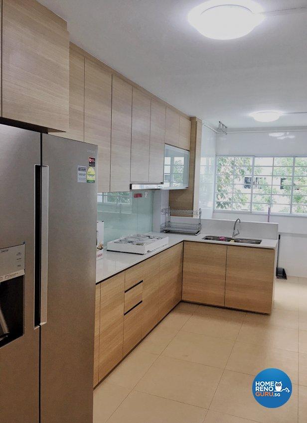 Contemporary, Minimalist, Modern Design - Kitchen - HDB 4 Room - Design by Weldas Wolfgang Pte Ltd