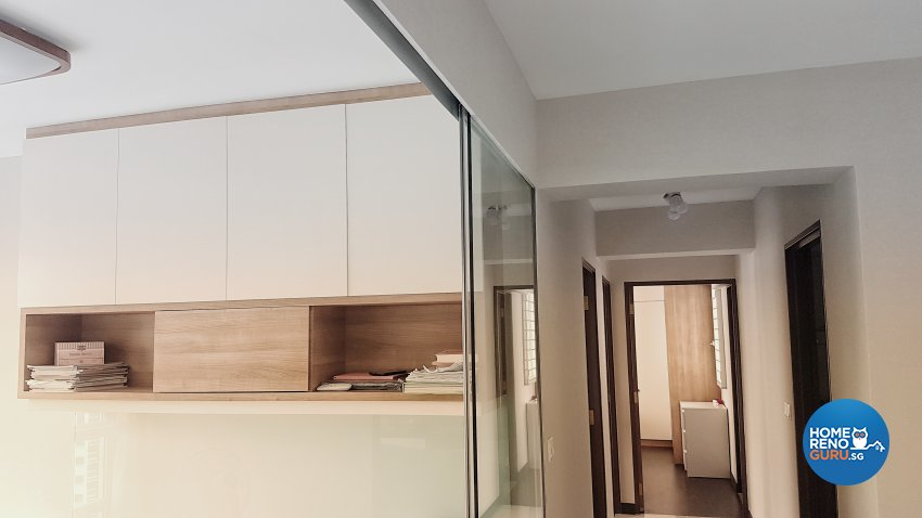 Contemporary, Minimalist Design - Study Room - HDB 4 Room - Design by Weldas Interior Pte Ltd