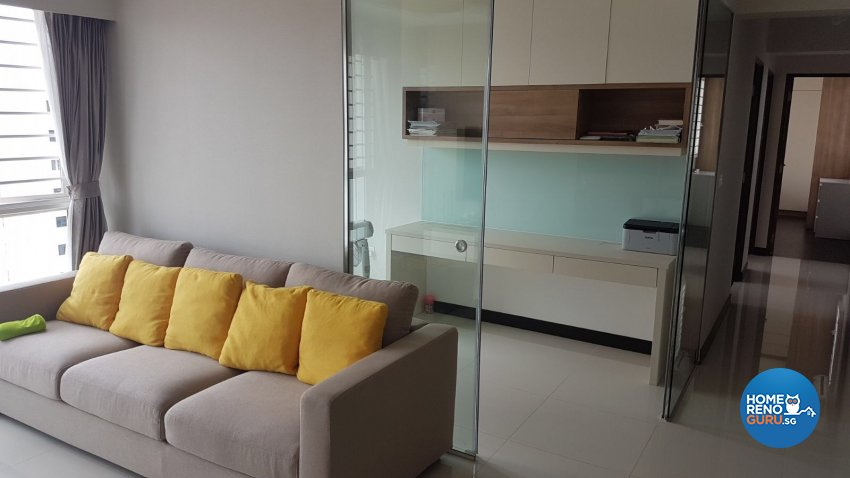 Contemporary, Minimalist Design - Living Room - HDB 4 Room - Design by Weldas Interior Pte Ltd