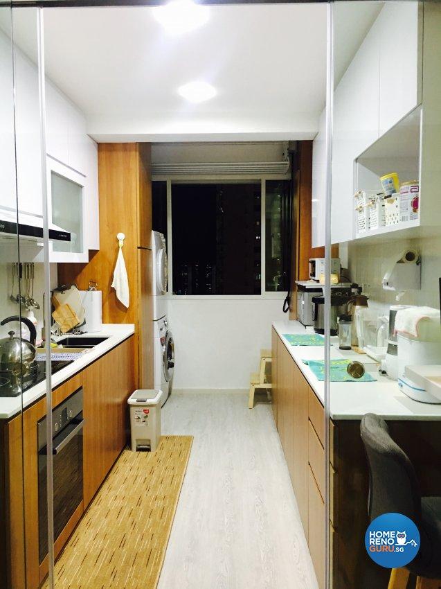Contemporary, Modern Design - Kitchen - HDB 4 Room - Design by Weldas Wolfgang Pte Ltd