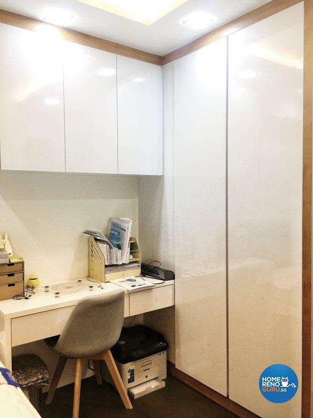 Contemporary, Modern Design - Study Room - HDB 4 Room - Design by Weldas Wolfgang Pte Ltd