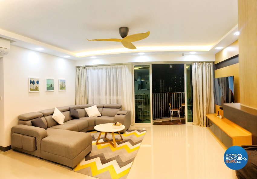 Contemporary, Modern Design - Living Room - HDB 4 Room - Design by Weldas Wolfgang Pte Ltd