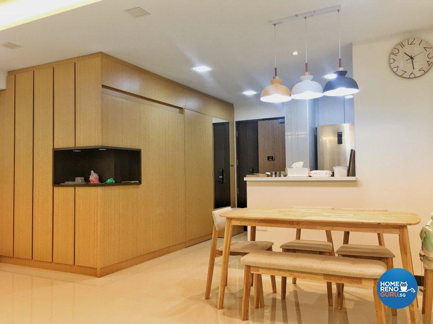 Contemporary, Modern Design - Dining Room - HDB 4 Room - Design by Weldas Wolfgang Pte Ltd