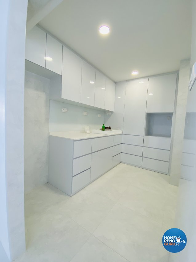 Contemporary, Minimalist, Modern Design - Kitchen - HDB Executive Apartment - Design by Weldas Wolfgang Pte Ltd