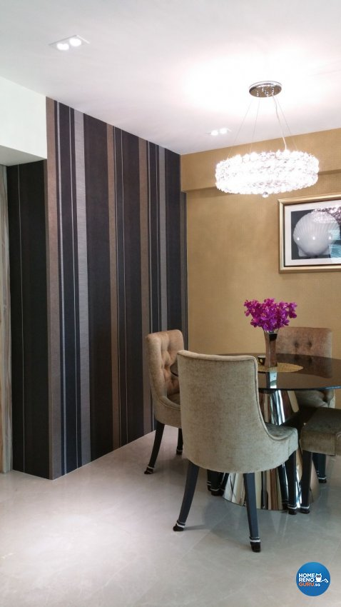 Classical, Contemporary Design - Dining Room - HDB 5 Room - Design by White Silver Pte Ltd