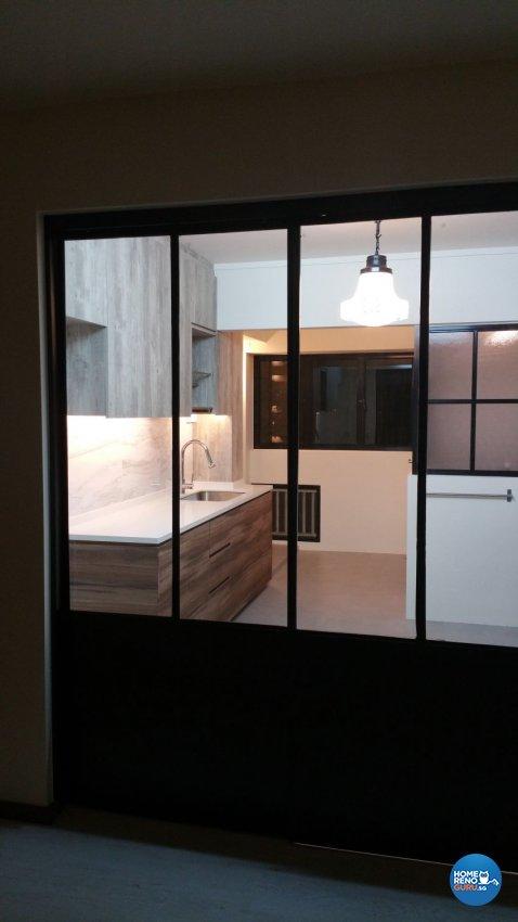 Rustic, Scandinavian Design - Kitchen - HDB 4 Room - Design by White Silver Pte Ltd