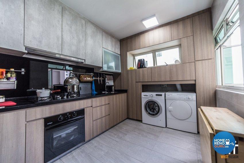 Contemporary, Industrial, Modern Design - Kitchen - HDB 5 Room - Design by WHST Design