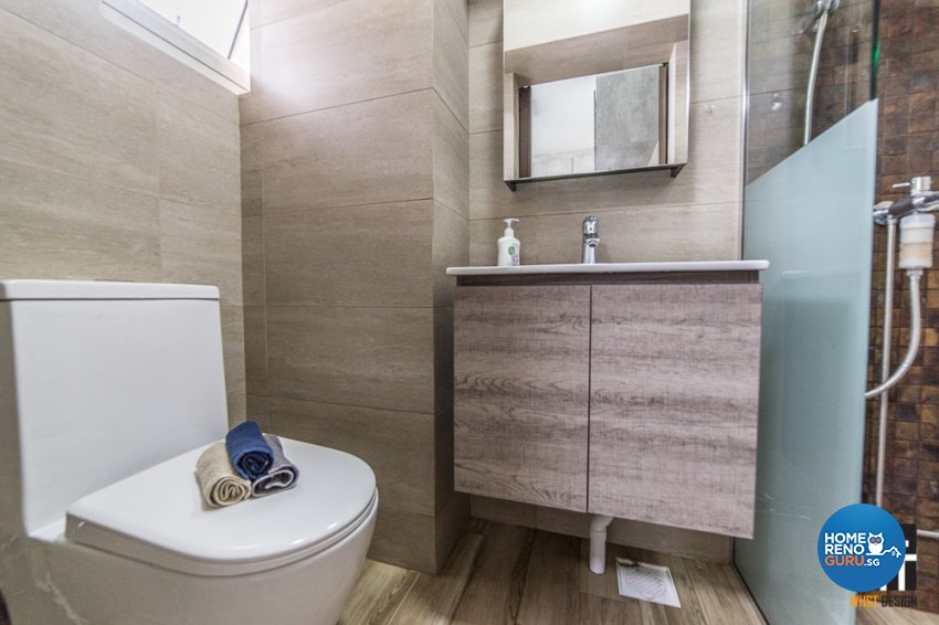 Contemporary, Industrial, Modern Design - Bathroom - HDB 5 Room - Design by WHST Design