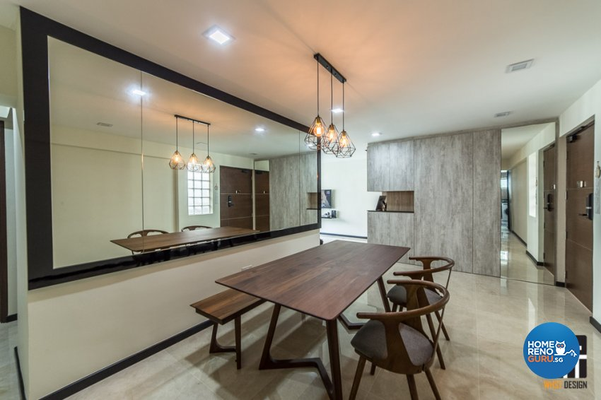 Contemporary, Industrial, Modern Design - Living Room - HDB 5 Room - Design by WHST Design