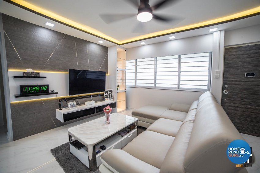 Classical, Contemporary, Modern Design - Living Room - HDB 3 Room - Design by WHST Design