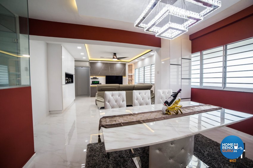 Classical, Contemporary, Modern Design - Dining Room - HDB 3 Room - Design by WHST Design
