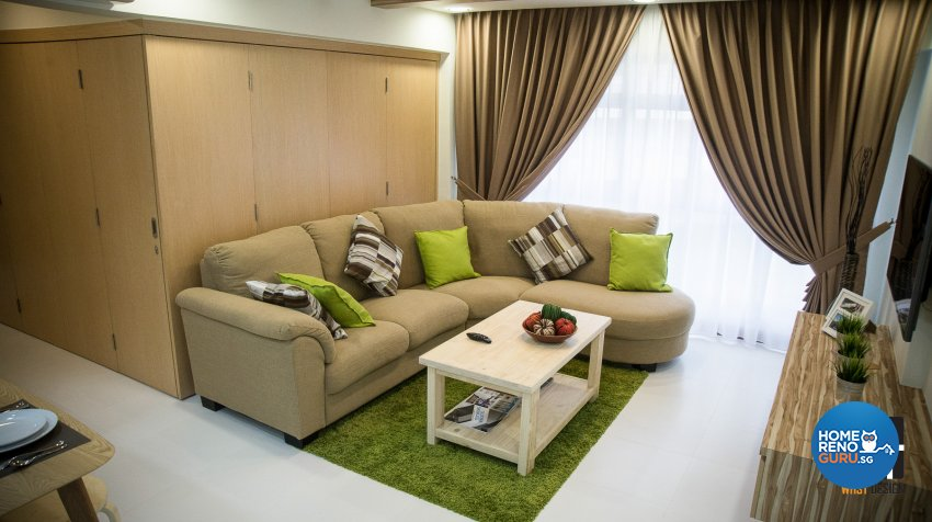 Minimalist, Modern, Resort Design - Living Room - HDB 5 Room - Design by WHST Design