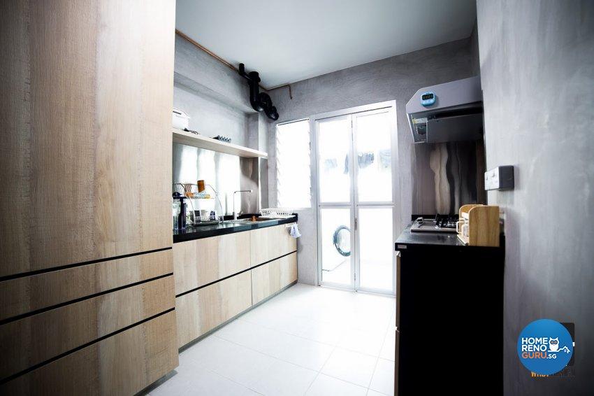 Industrial, Rustic, Scandinavian Design - Kitchen - HDB 4 Room - Design by WHST Design