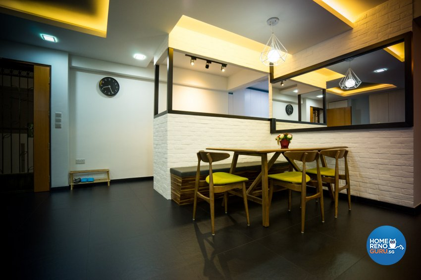Industrial, Modern, Scandinavian Design - Dining Room - HDB 5 Room - Design by WHST Design