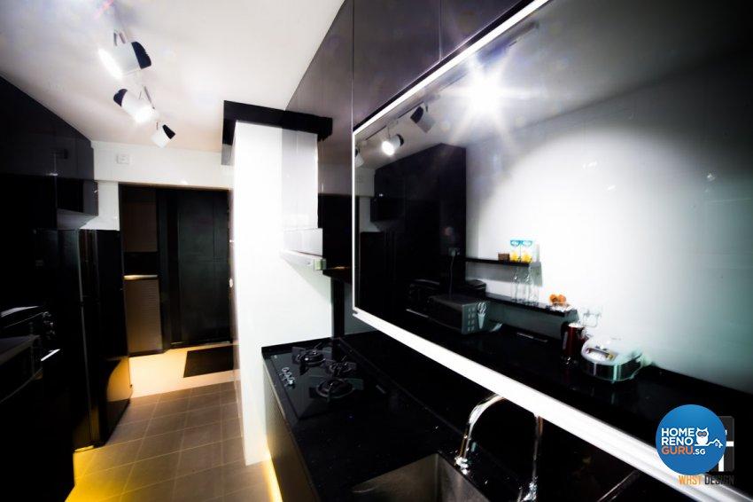 Contemporary, Minimalist, Modern Design - Kitchen - HDB 4 Room - Design by WHST Design