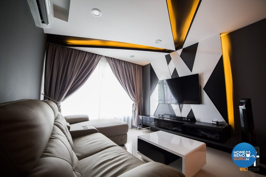 Contemporary, Minimalist, Modern Design - Living Room - HDB 4 Room - Design by WHST Design