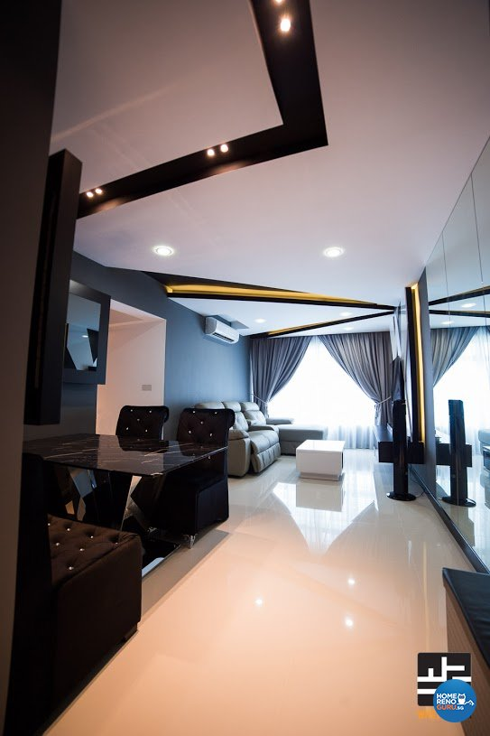 Contemporary, Minimalist, Modern Design - Living Room - HDB 4 Room - Design by WHST Design