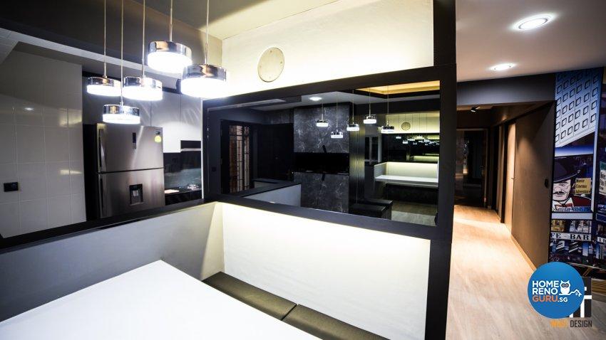Industrial, Modern, Scandinavian Design - Dining Room - HDB 5 Room - Design by WHST Design