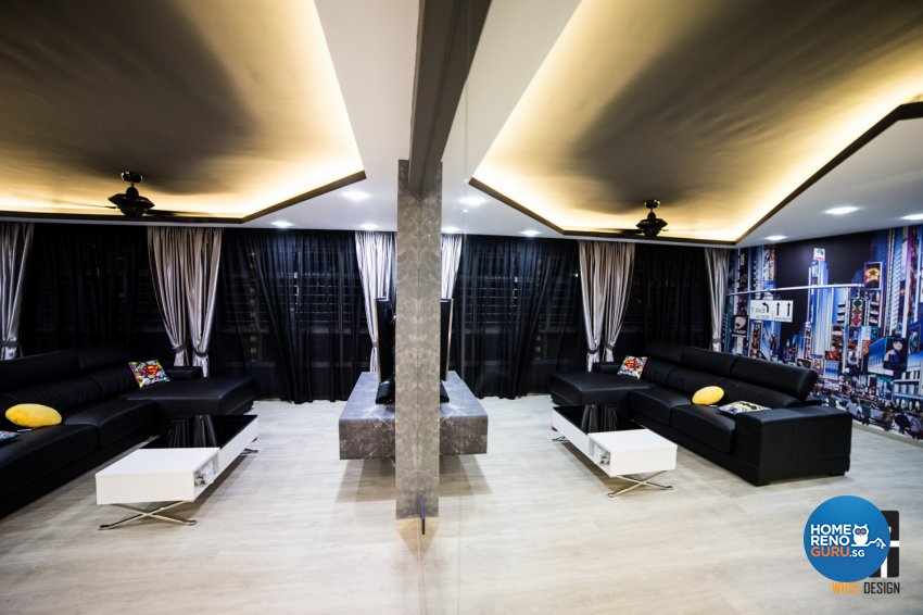 Industrial, Modern, Scandinavian Design - Living Room - HDB 5 Room - Design by WHST Design
