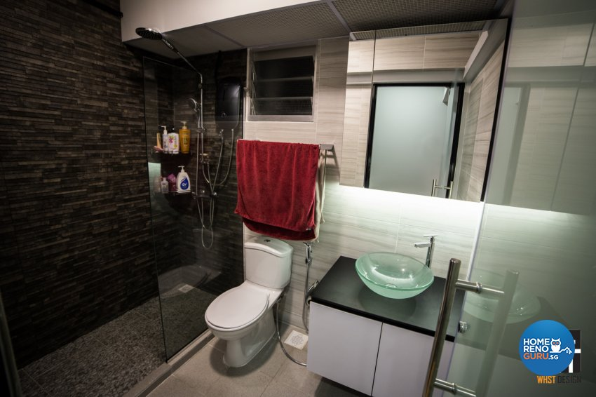 Industrial, Modern, Scandinavian Design - Bathroom - HDB 5 Room - Design by WHST Design