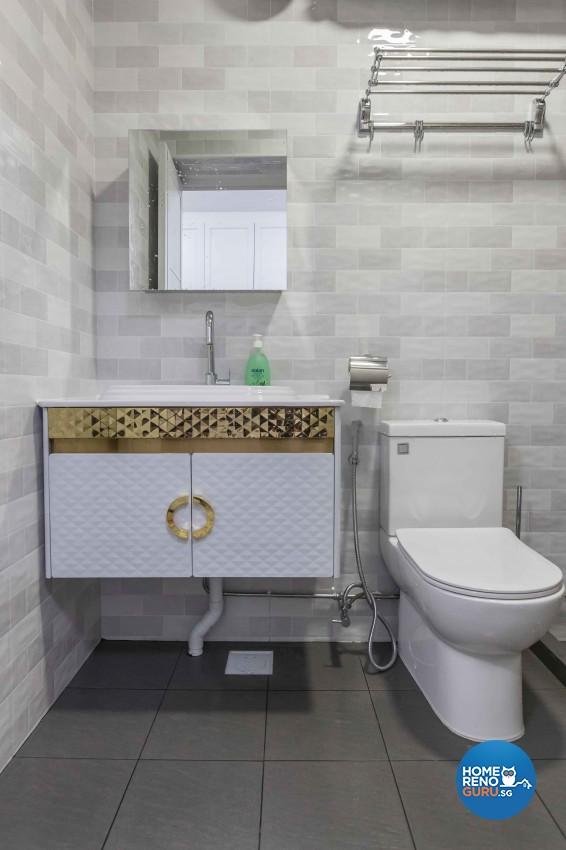 Scandinavian, Victorian Design - Bathroom - HDB 5 Room - Design by WHST Design