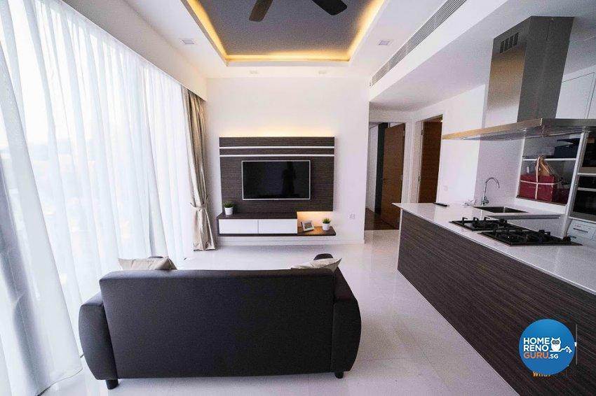 Contemporary, Minimalist, Modern Design - Living Room - Condominium - Design by WHST Design