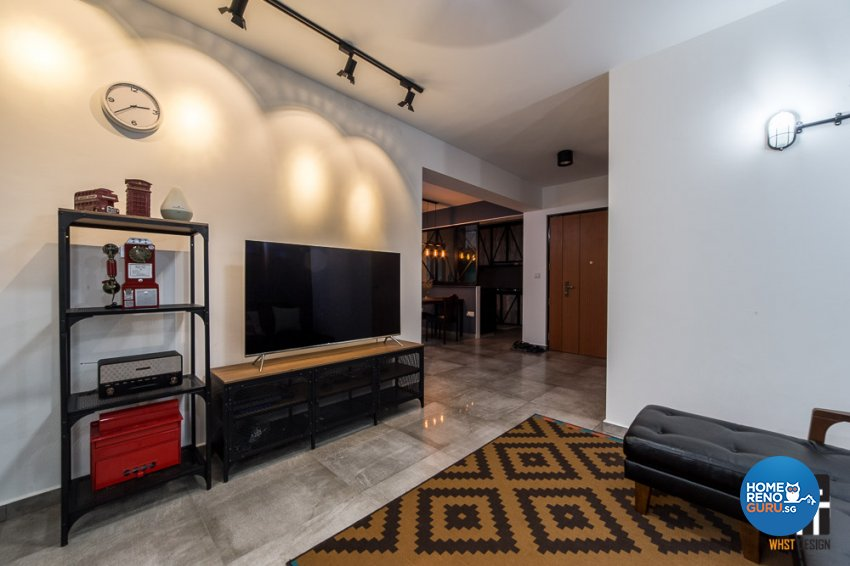Industrial, Rustic, Scandinavian Design - Living Room - HDB 4 Room - Design by WHST Design