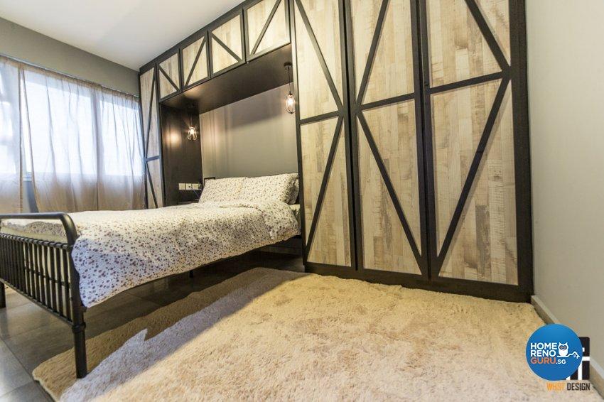 Industrial, Rustic, Scandinavian Design - Bedroom - HDB 4 Room - Design by WHST Design