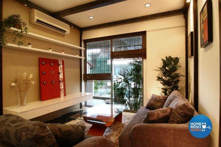 Classical, Tropical Design - Living Room - Condominium - Design by Wideangle Pte Ltd