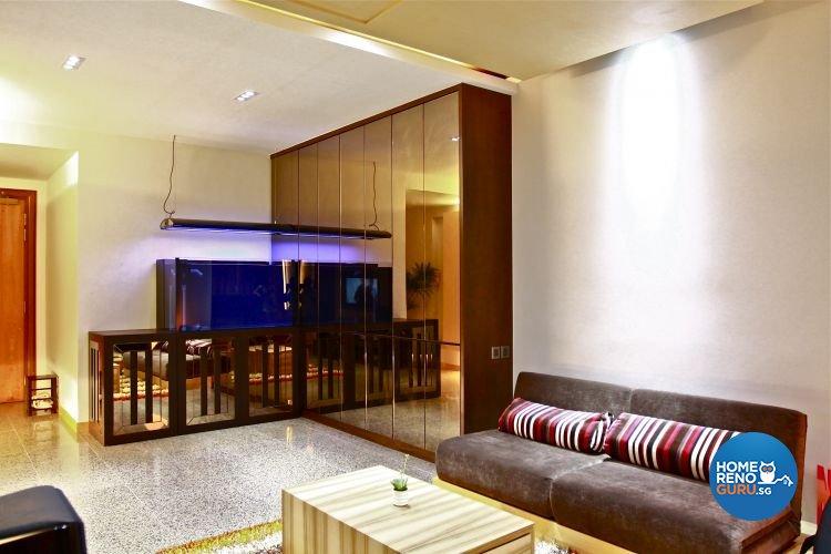 Contemporary, Minimalist Design - Living Room - Condominium - Design by Wideangle Pte Ltd
