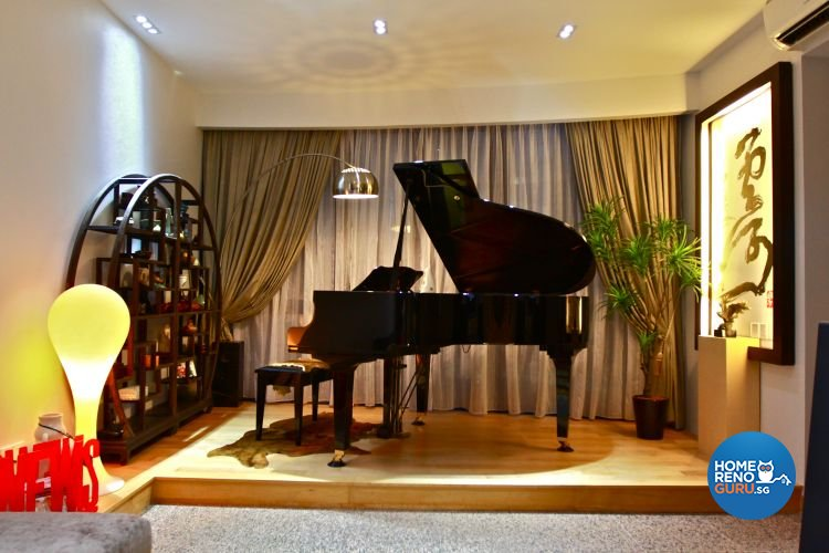 Contemporary, Minimalist Design - Entertainment Room - Condominium - Design by Wideangle Pte Ltd