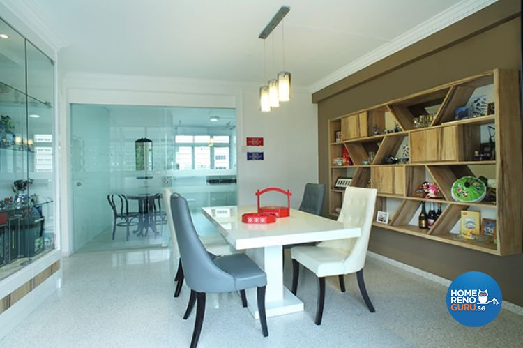 Minimalist, Modern Design - Dining Room - HDB 5 Room - Design by Wideangle Pte Ltd