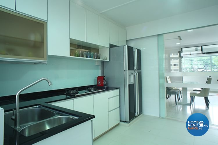 Minimalist, Modern Design - Kitchen - HDB 5 Room - Design by Wideangle Pte Ltd