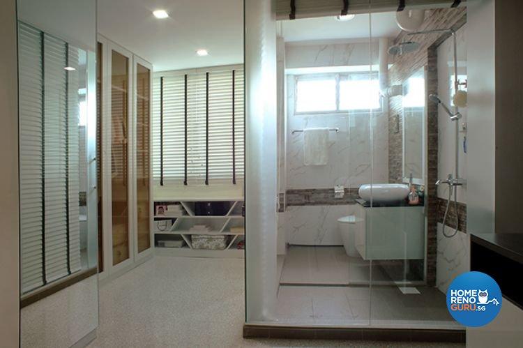 Minimalist, Modern Design - Bathroom - HDB 5 Room - Design by Wideangle Pte Ltd