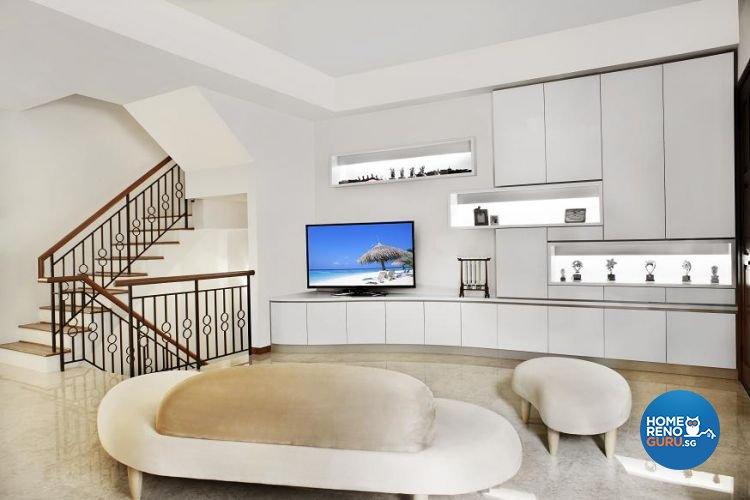 Contemporary, Scandinavian Design - Living Room - Landed House - Design by Wideangle Pte Ltd
