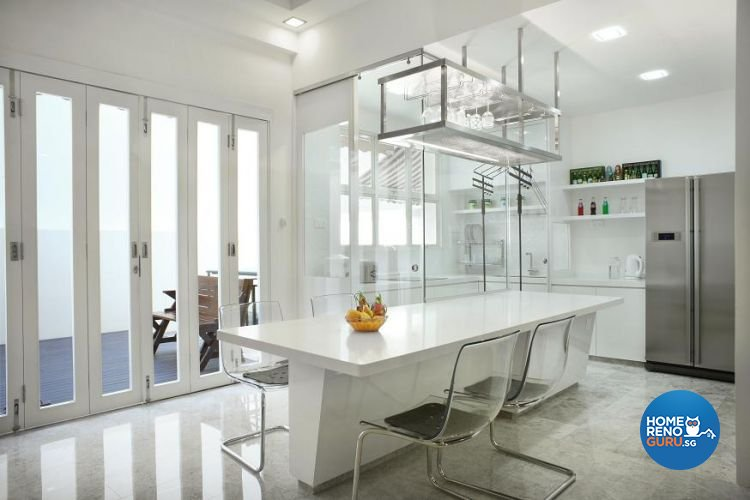 Contemporary, Scandinavian Design - Dining Room - Landed House - Design by Wideangle Pte Ltd