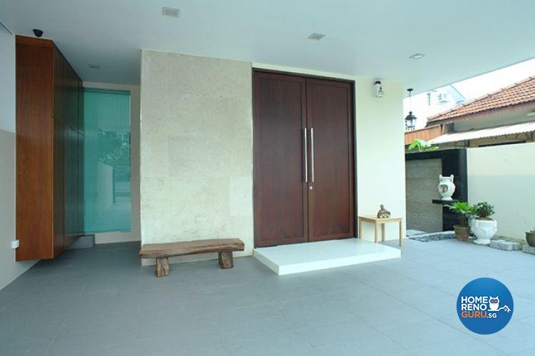 Minimalist, Tropical Design - Garden - Landed House - Design by Wideangle Pte Ltd