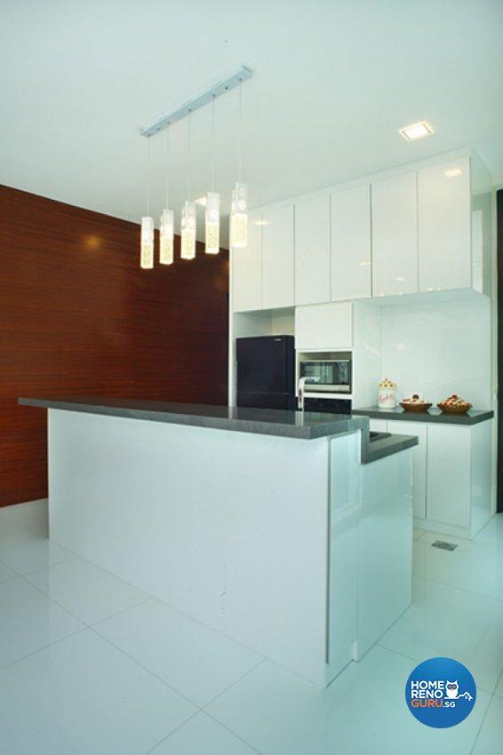 Minimalist, Tropical Design - Kitchen - Landed House - Design by Wideangle Pte Ltd