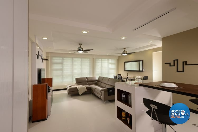 Contemporary, Minimalist Design - Living Room - HDB 5 Room - Design by Y-Axis ID