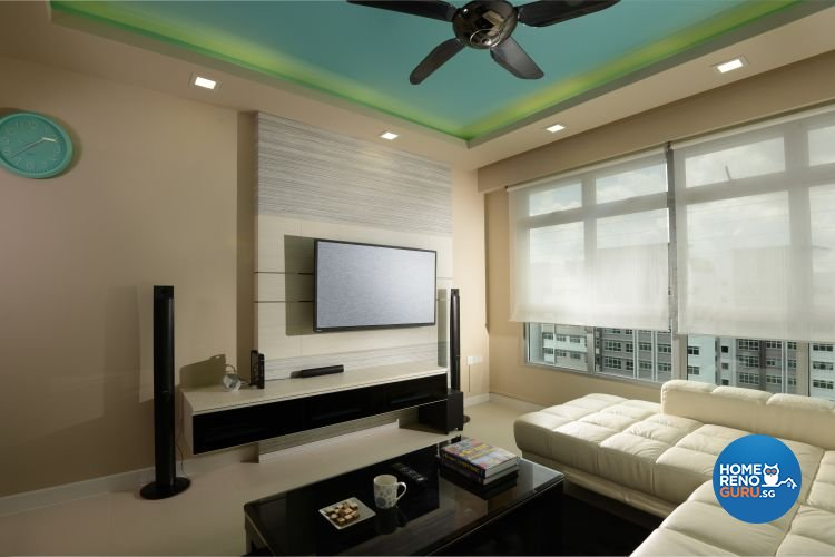 Contemporary, Modern Design - Living Room - HDB 4 Room - Design by Y-Axis ID