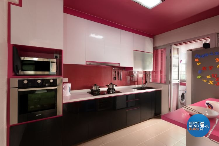 Contemporary, Modern Design - Kitchen - HDB 4 Room - Design by Y-Axis ID