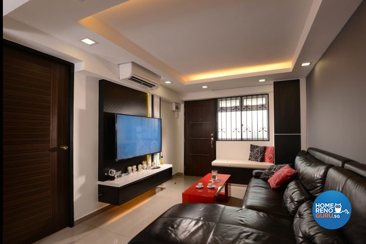 Minimalist, Modern Design - Living Room - HDB 3 Room - Design by Y-Axis ID