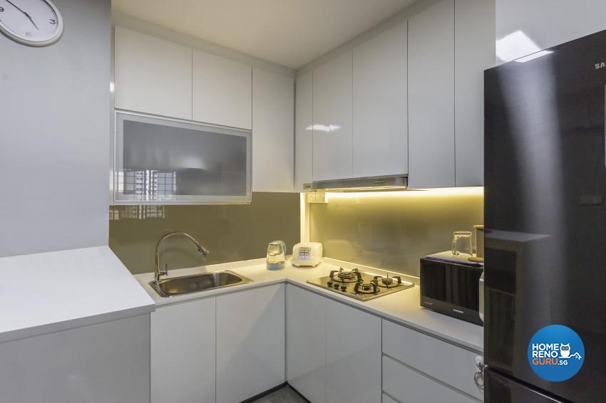 Industrial Design - Kitchen - HDB 4 Room - Design by Y-Axis ID