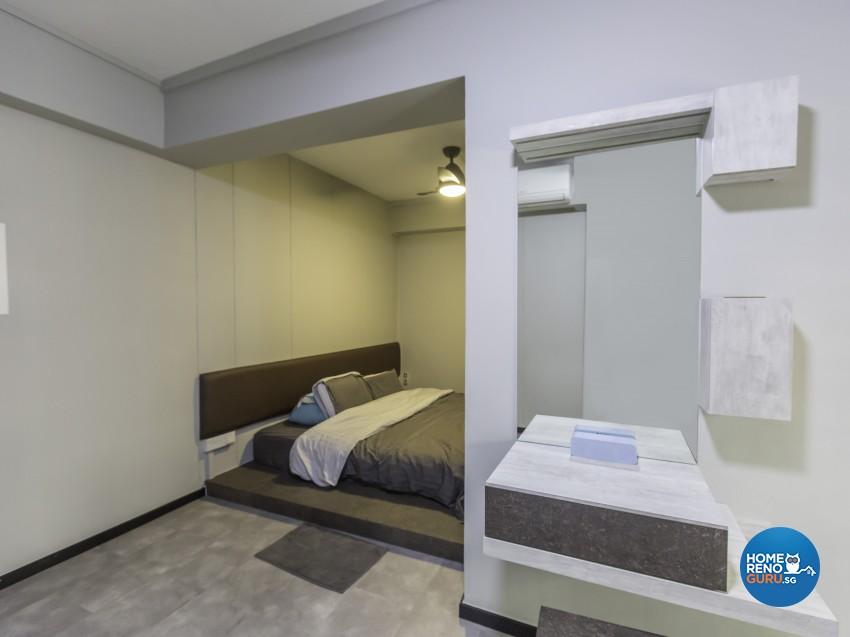 Industrial Design - Bedroom - HDB 4 Room - Design by Y-Axis ID