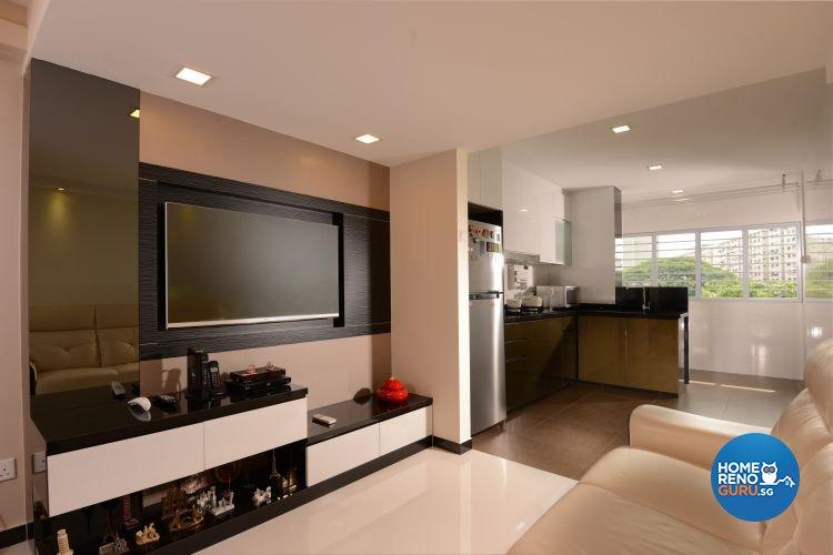 Minimalist, Modern Design - Living Room - HDB 3 Room - Design by Y-Axis ID